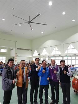 最佳過年禮物企業捐直升機大風扇給官田國小