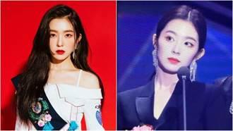 Irene美貌再升級?深V蕾絲化身霸氣女總裁