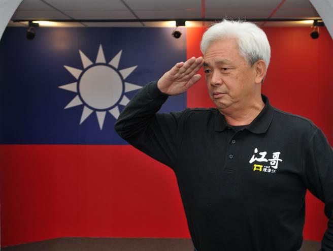 陳滄江強調,「一日黃埔、終身黃埔」他以官校生為榮。(李金生攝)