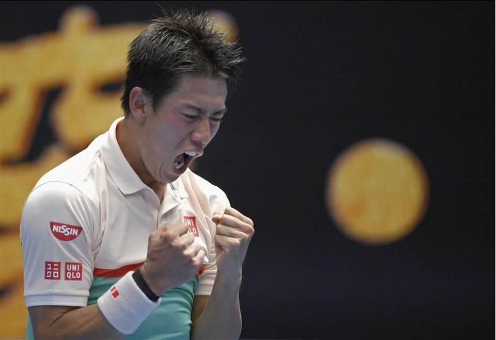 日本網球好手錦織圭。(資料照,美聯社)