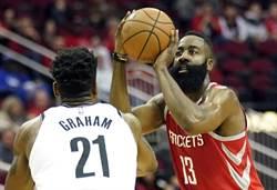 NBA》哈登58分又怎樣 火箭OT遭籃網逆襲