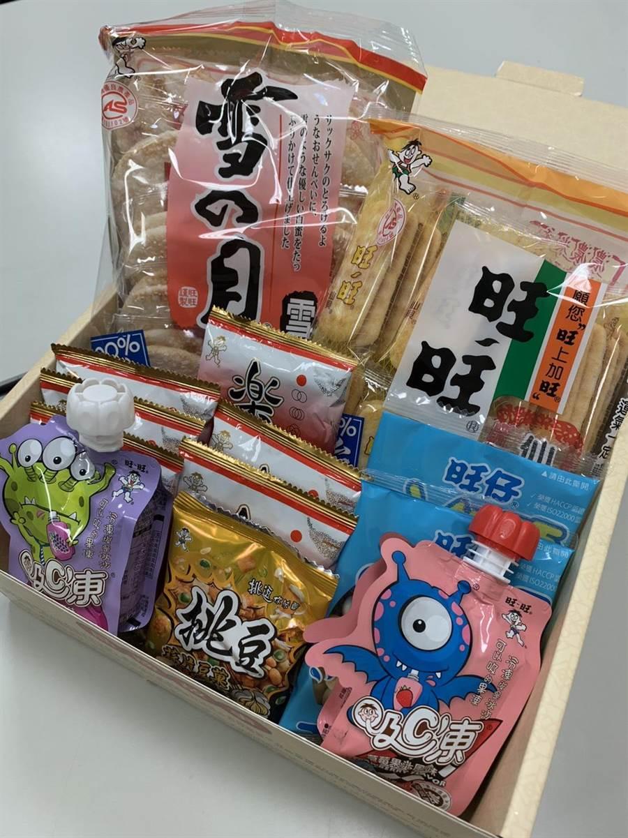 「旺旺盒好」裡有滿滿的零食,充滿令人熟悉又懷念的好味道。(攝影/廖映翔)
