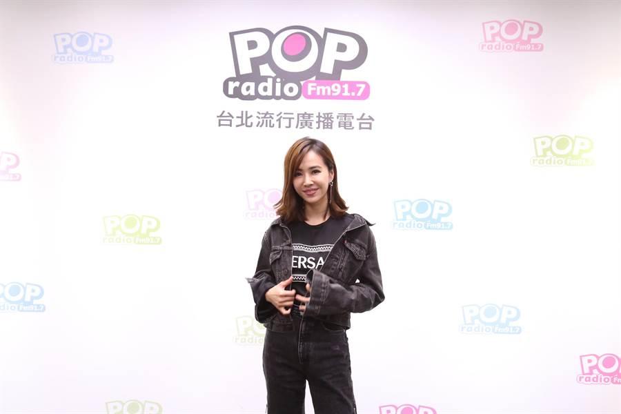 蔡依林近日到POPRadio宣傳新專輯《UglyBeauty》。(POPRadio提供)