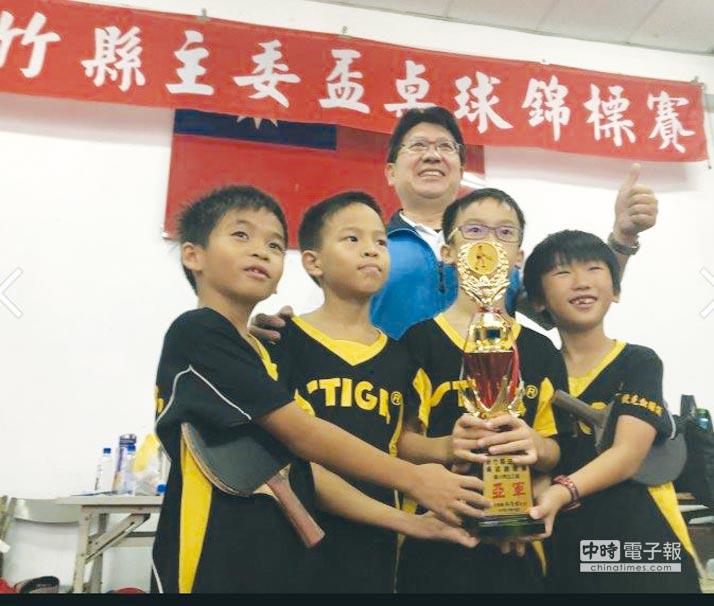 訊映光電自2010年起持續贊助力挺國內體育活動,善盡企業社會責任;圖為新竹六家國小桌球錦標賽。圖/訊映光電提供