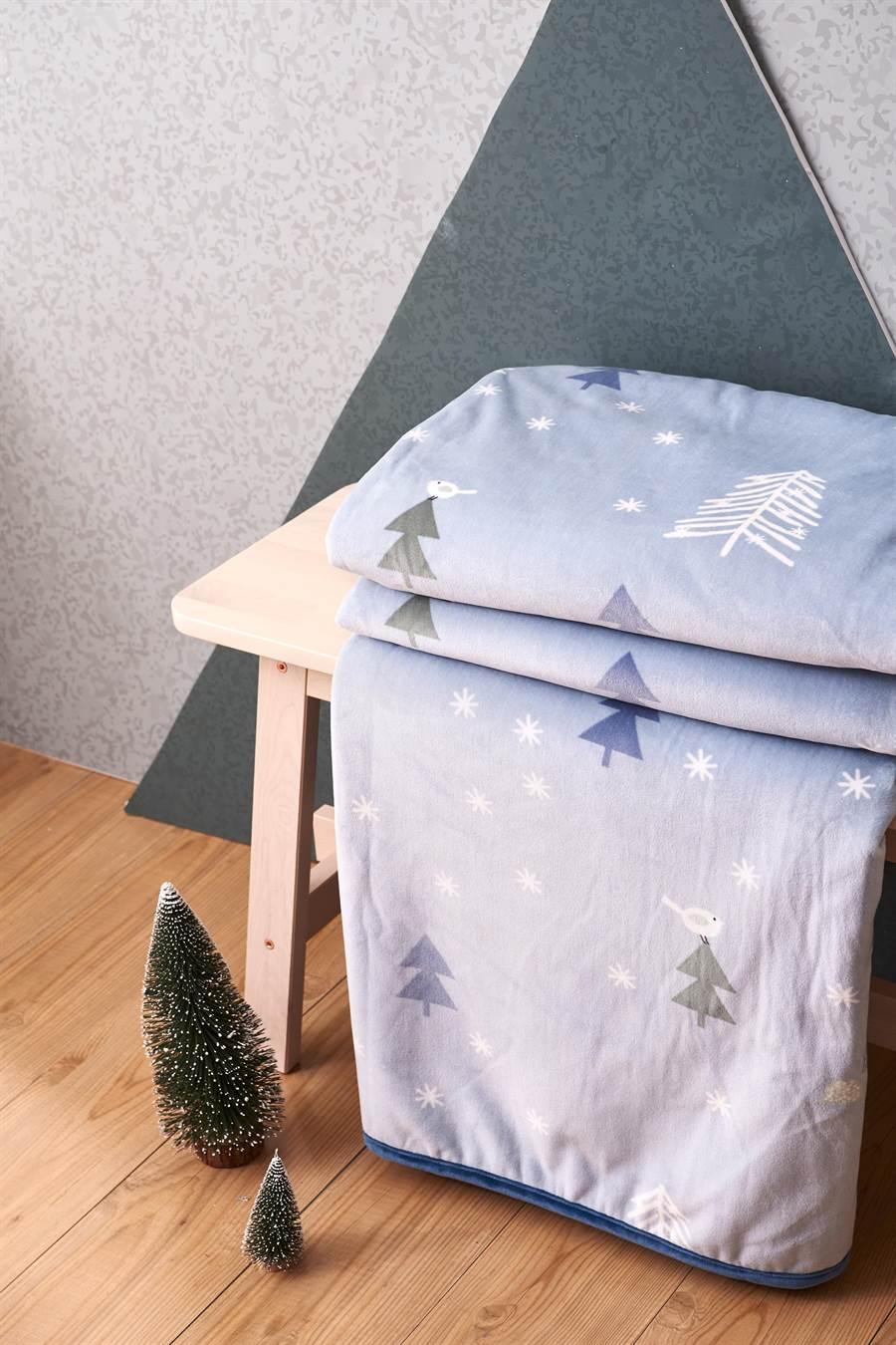 Lamode小森林親柔毯原價4560元,特價2280元。(東妮寢飾提供)