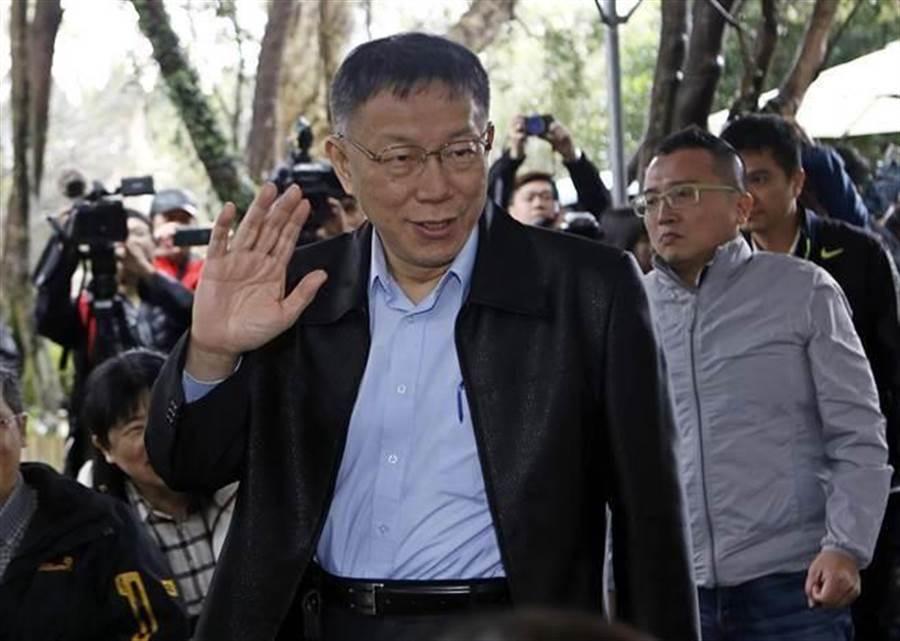 台北市長柯文哲。(資料照片,張鎧乙攝)