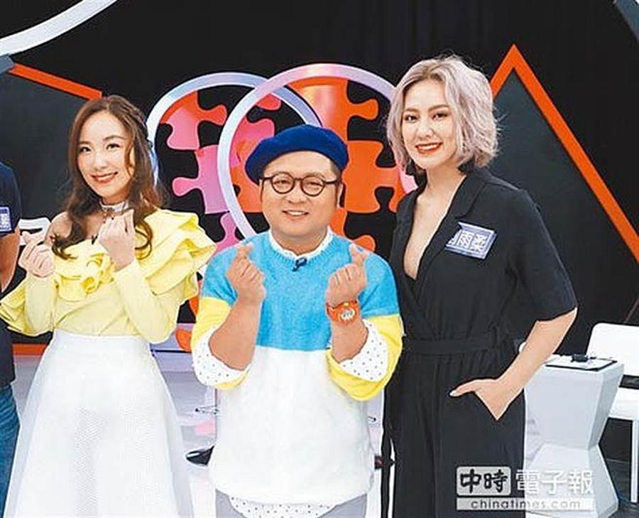 御姊愛(左起)、納豆、劉雨柔日前錄影大談恐怖戀情。