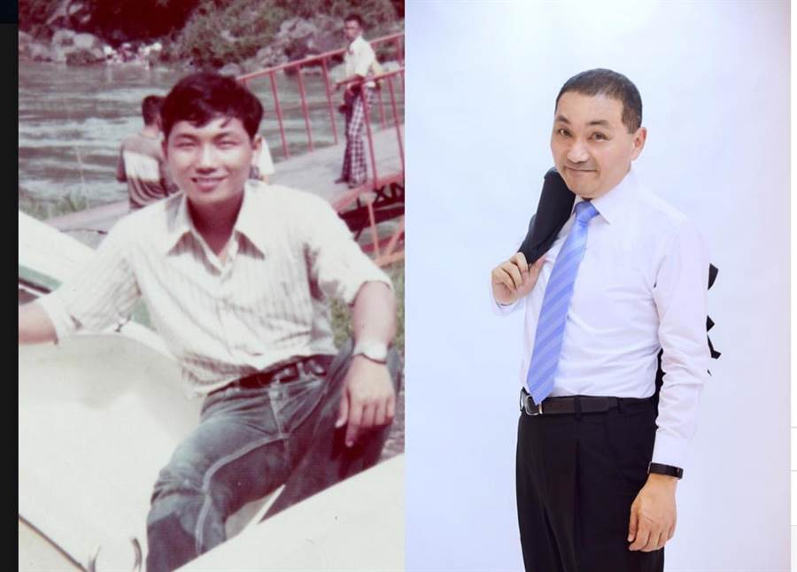 新北市長侯友宜在臉書中貼出30年前照片,驚呼超像侯友宜的外甥、藝人納豆。(葉書宏翻攝)