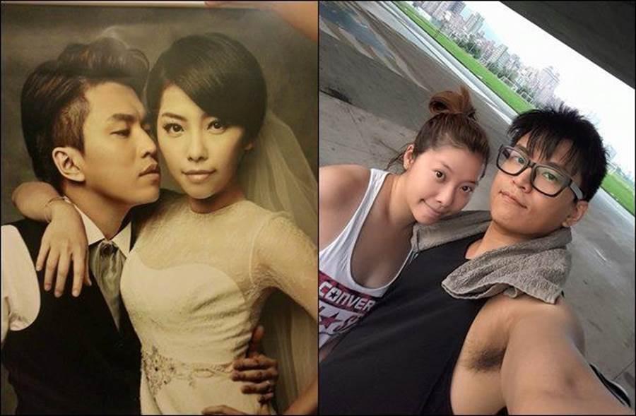 阿弟與Mei結婚12年,兩人育有2個女兒,隔9年宣布懷上第三胎。(圖/翻攝自阿弟臉書)