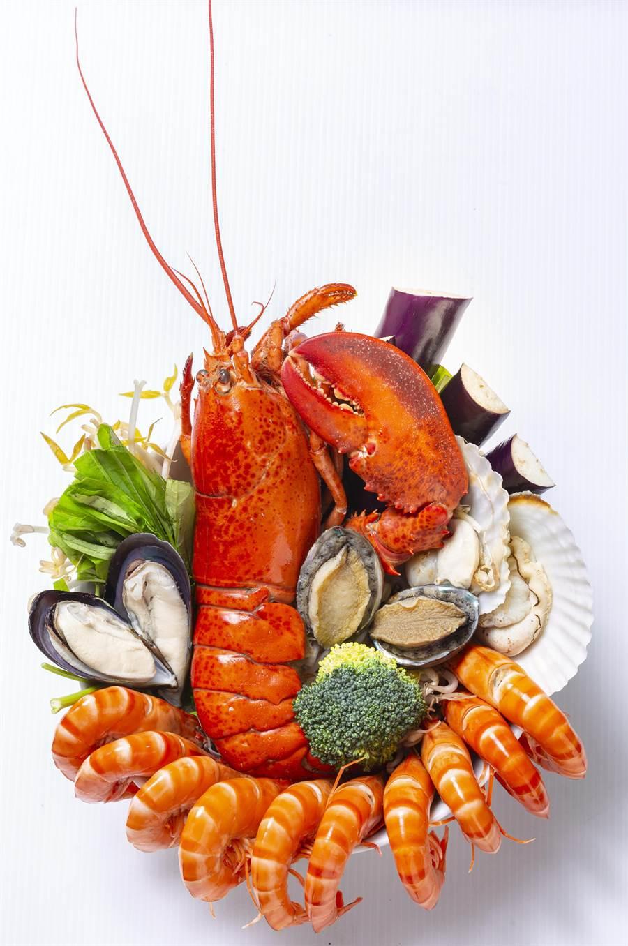 痛風系料理「檳城龍蝦麵」即日起限量供應,嚐鮮價488元/份。(圖片提供/聯發國際餐飲)