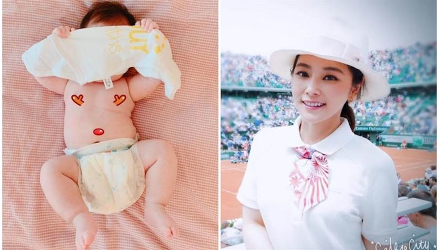 陳怡蓉今分享女兒的照片,不過沒露出女兒正面。(取自臉書)