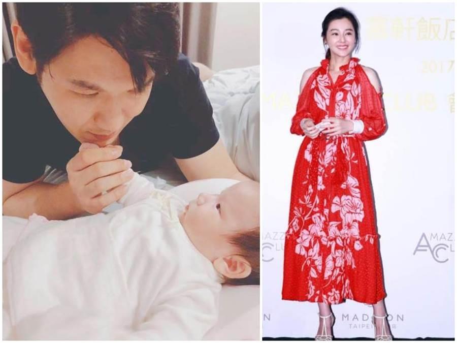 陳怡蓉的老公薛博仁看著寶貝女兒,眼神充滿父愛。(取自臉書)