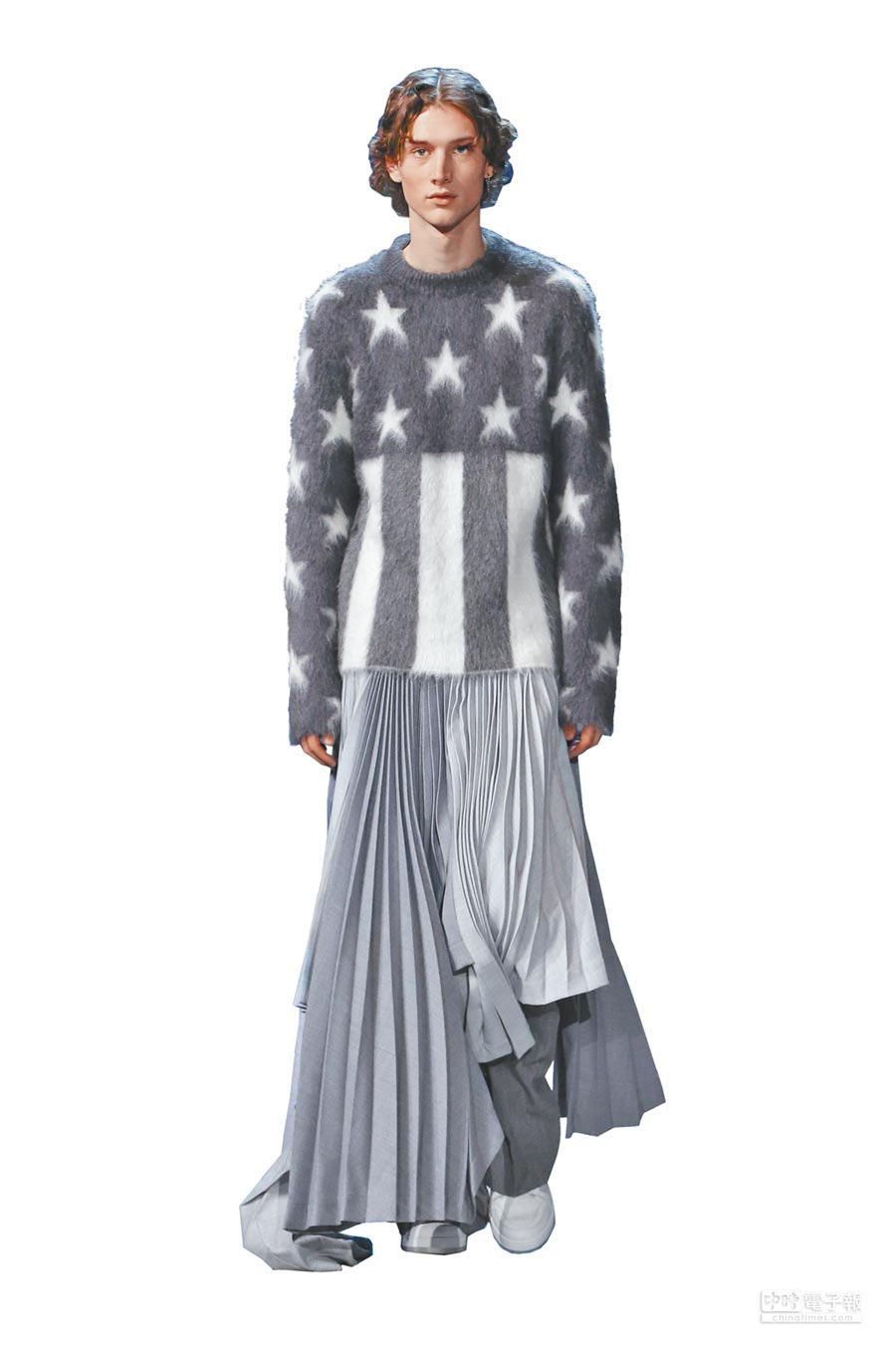 美國國旗上的星條圖騰,是本季的重點符號之一。(LV提供)