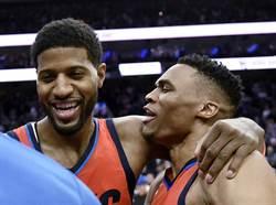 NBA》喬治四分打絕殺 雷霆送七六人對戰19連敗