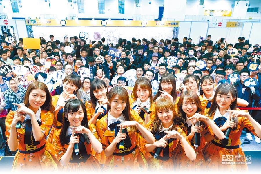 AKB48 TEAM TP昨出席動漫展。(社外提供)