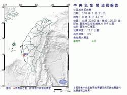 台南春節前地牛翻身 民眾驚:想起0206大地震!