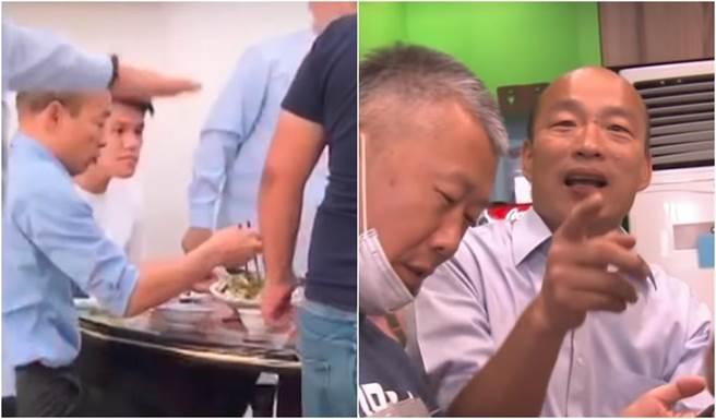 韓國瑜超愛麵!跑岡山羊肉、楠梓牛肉麵店指定吃這道。(圖/翻攝自中天新聞)