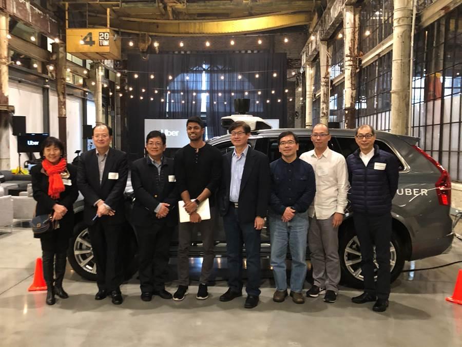 科技部參訪Uber總部「前瞻科技中心」,邀請Uber加入國際青年創業基地TaiwanTechArena(TTA),加速台灣新創產業發展動能。(Uber提供)