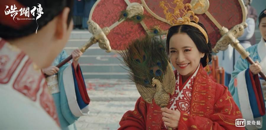 《延禧》舒妃李春嬡在《皓鑭傳》中飾演吳謹言的妹妹,從小忌妒她長大後開始陷害她。(圖/愛奇藝台灣站提供)