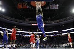 NBA》七六人狂電火箭 哈登紀錄夜臉上無光