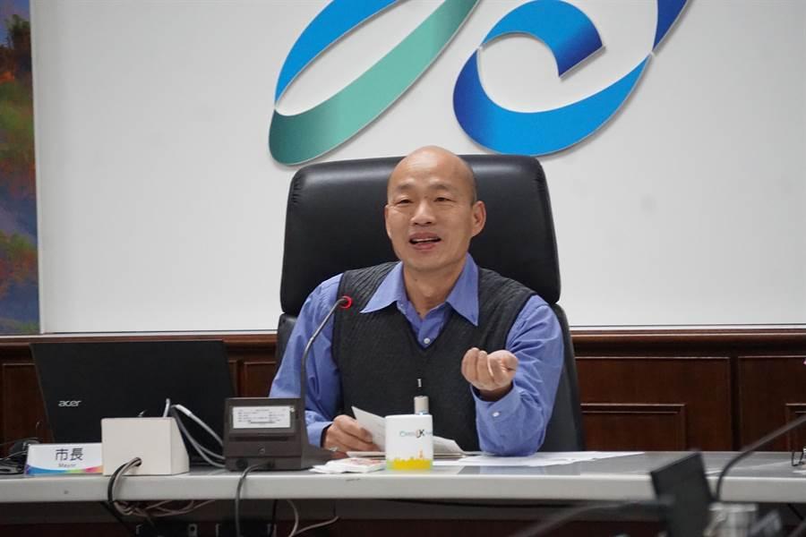 高雄市長韓國瑜明日將首度前往海軍陸戰隊勞軍。(柯宗緯攝)