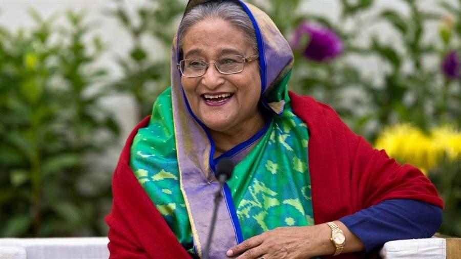 有「孟加拉鐵娘子」之稱的哈西娜(Sheikh Hasina)。(美聯社資料照片)