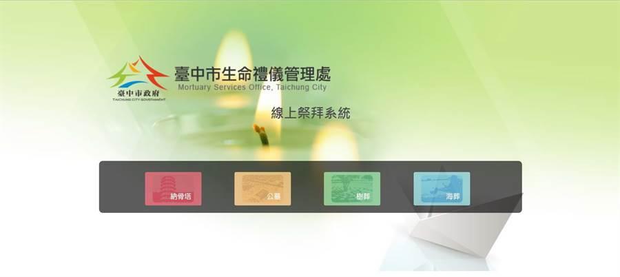 台中市殯葬e化資訊系統再優化,線上祭拜創新服務。(圖/台中市府提供)