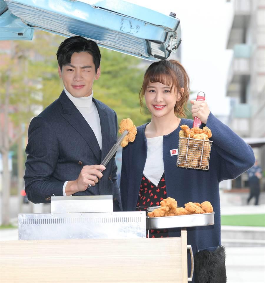 禾浩辰、安心亞親自炸雞請大家吃。(三立)