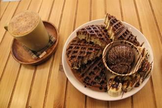 浪漫時光咖啡 香蕉巧克力鬆餅香醇美味紓壓
