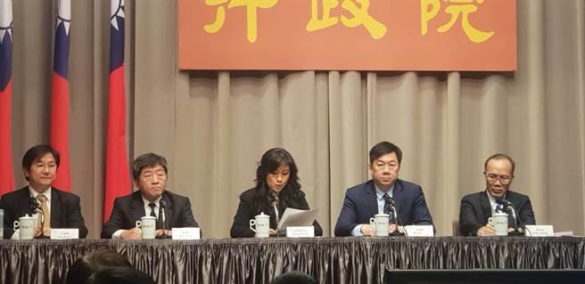 行政院發言人谷辣斯說明陸企科技商品禁止採購原則(呂雪彗攝)