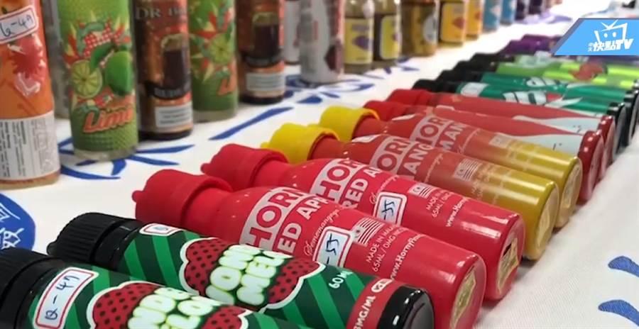 警方查獲市值上千萬元的走私煙油,若是非法在台輸入、販售、製造,將依菸害防制法重罰。(圖/中天新聞)