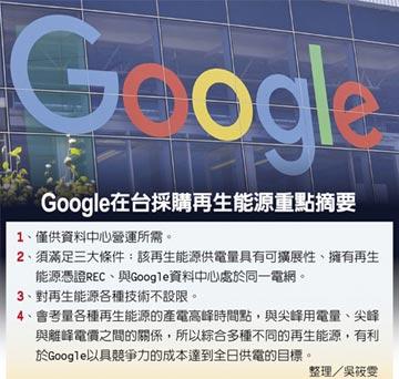 亞洲首宗 Google在台買再生能源