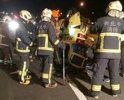 影》疲勞駕駛惹禍!國3凌晨追撞翻車 1重傷、4輕傷