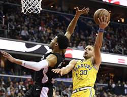 NBA》五星戰隊太強!柯瑞38分領勇士9連勝
