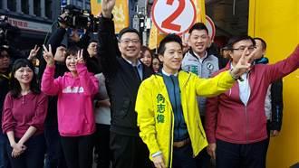 影》好巧!北市立委補選衝刺 何志偉、陳思宇同路口拉票