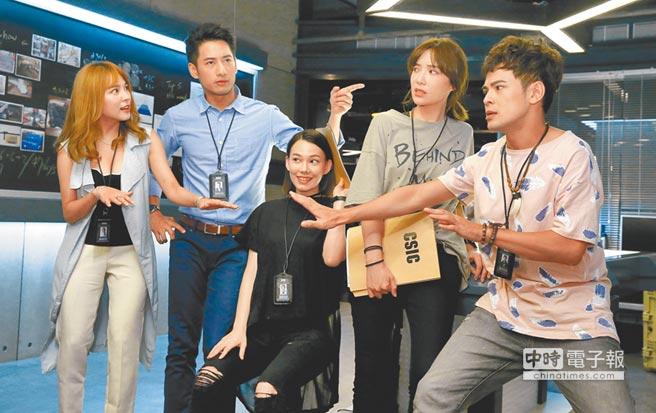 《鑑識英雄II》演員熊熊(左起)、周孝安、紀培慧、蔡淑臻、蘇達。(本報系資料照片)