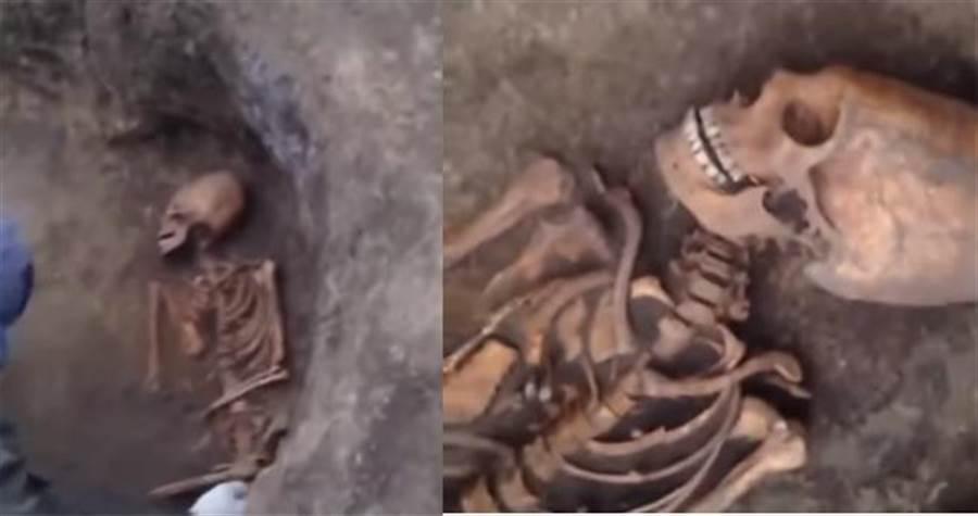俄羅斯挖到外星人蛋型頭骨?專家曝光驚人發現(圖翻攝自youtube/ing.arheologiya)