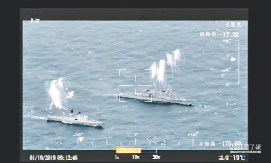 銳鳶無人機即時回傳的畫面。(海軍提供)