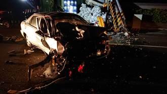 清晨載同事下班遇死劫 撞斷電線桿釀1死1傷悲劇