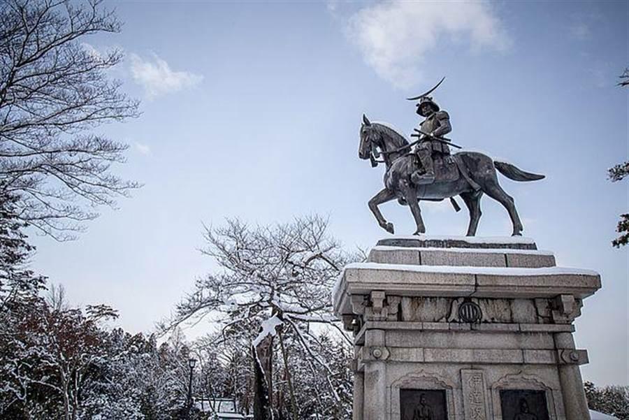 日本宮城縣仙台城下雪美景。(達志影像/shutterstock提供)