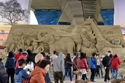 南投國際沙雕換展開幕 結合4D光雕營造超視覺饗宴