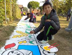 林鳳營步道童趣彩繪 六甲新打卡熱點