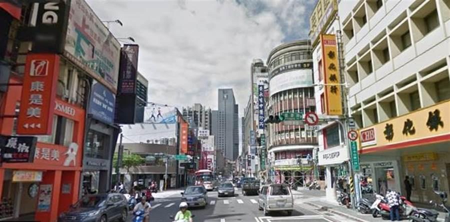 板橋去年租金最貴店面位在中山路一段上。(圖/翻攝Google map)