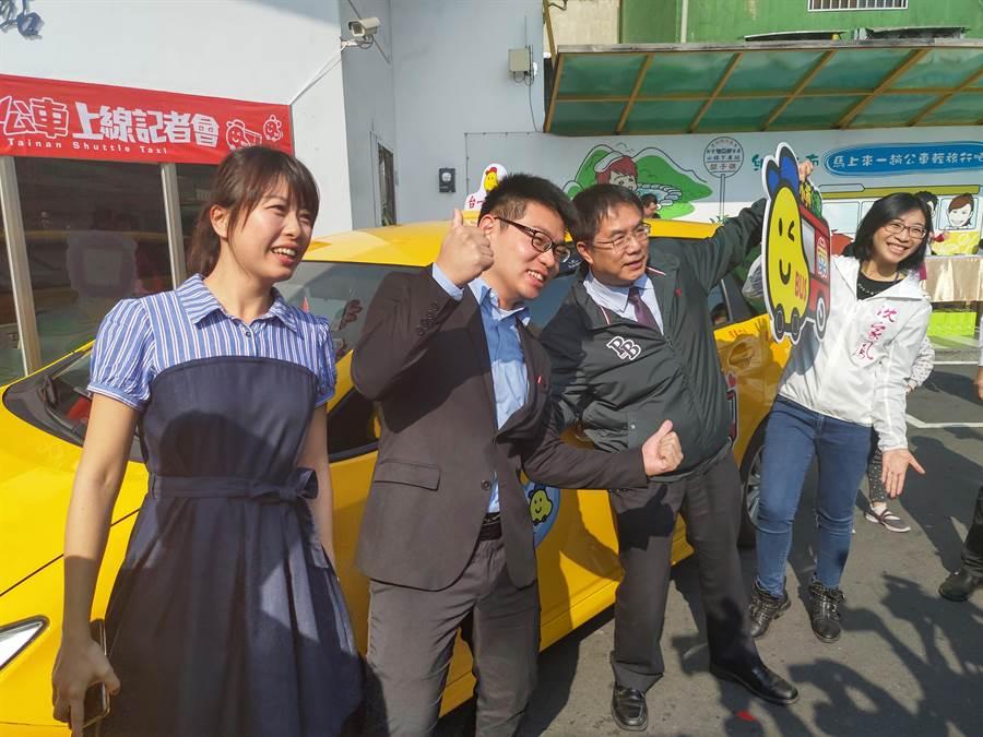 台南市政府與台一大車隊合作,在偏遠地區推出小黃公車服務。(莊曜聰攝)