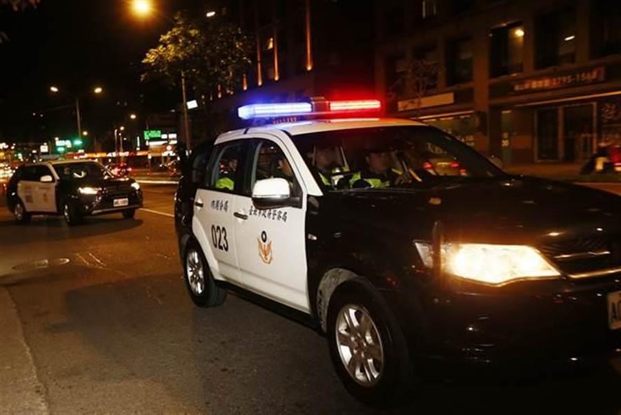 警車示意圖,與文中人物無關。(報系資料照,劉宗龍攝)