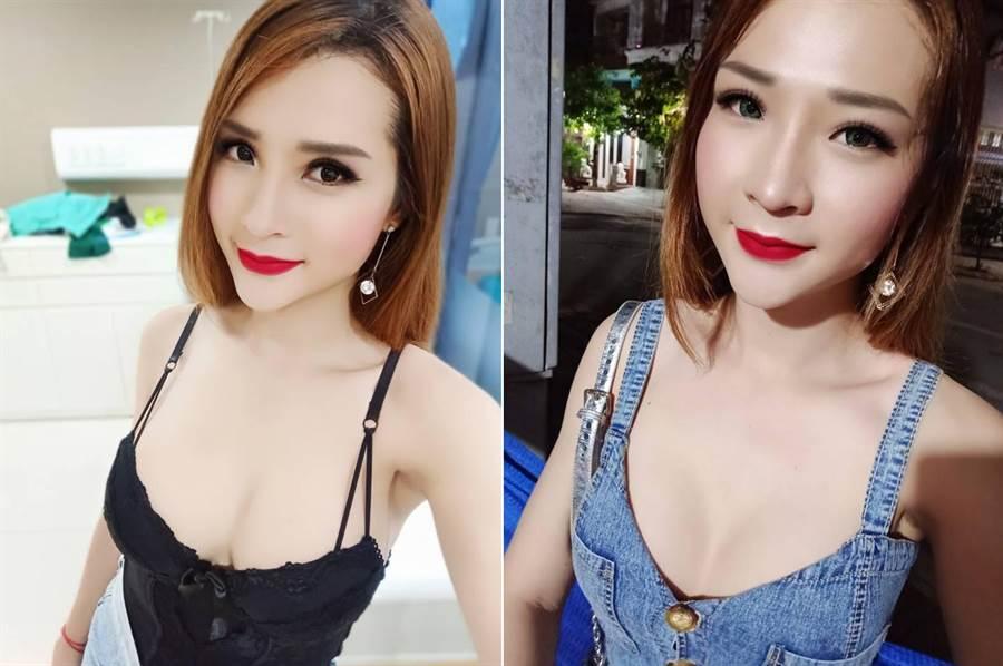 簡的模樣相當迷人(圖翻攝自臉書/Trần Thoại Vy)