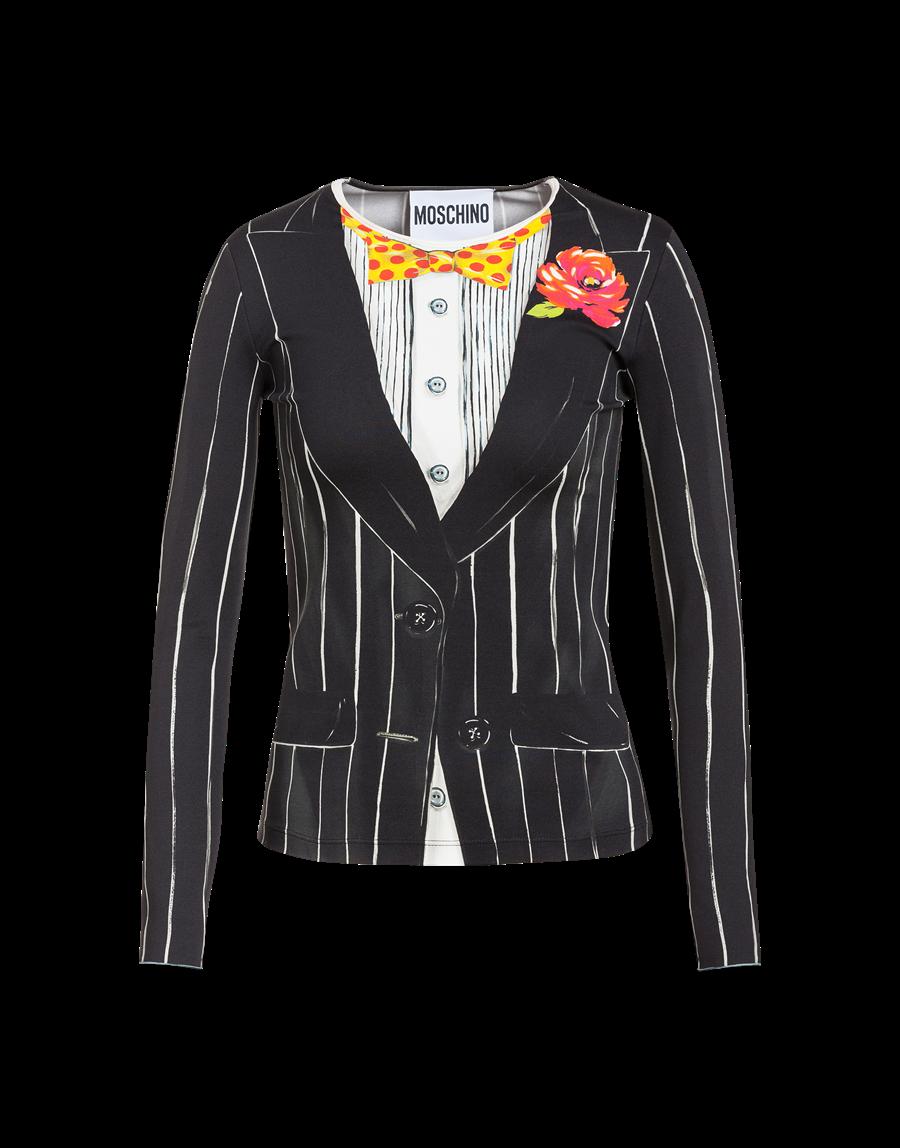 MOSCHINO錯視效果上衣,2萬7500元。(MOSCHINO提供)