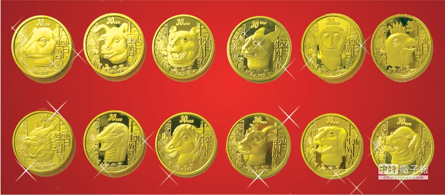 博大藏品限量發售「圓明園十二生肖獸首紀念幣」套幣,即日起購買加贈「中華騰龍掐絲琺瑯手錶」乙隻,送完為止。圖/博大提供