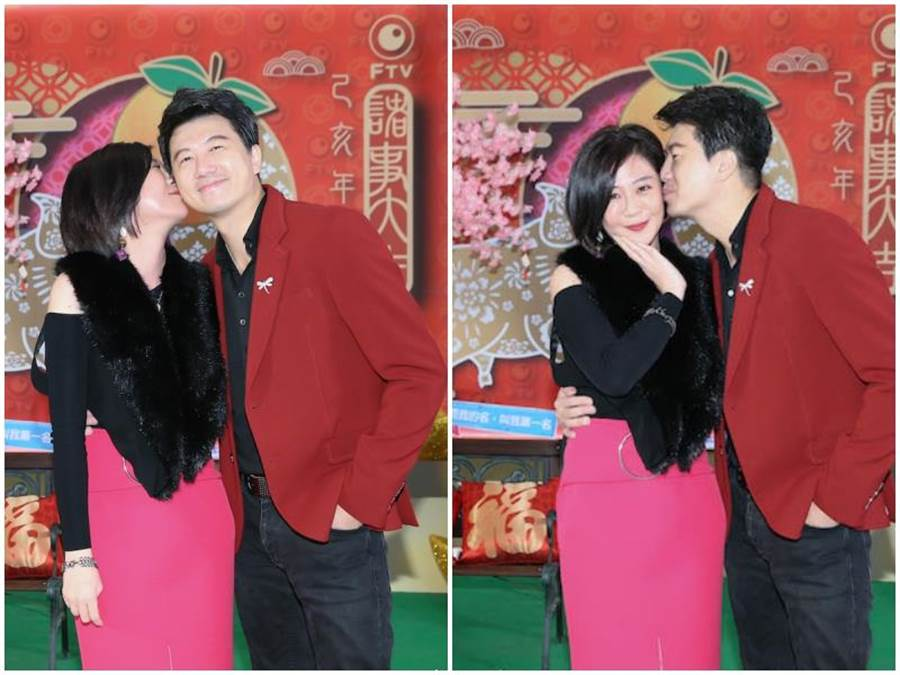 吳皓昇和老婆文汶恩愛幸福。(羅永銘攝)
