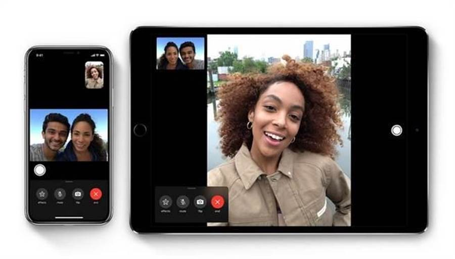 FaceTime群組通話恐淪為竊聽工具。(圖/翻攝蘋果官網)